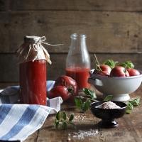 Доматен сок от розови домати