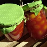Чери домати в доматен сок